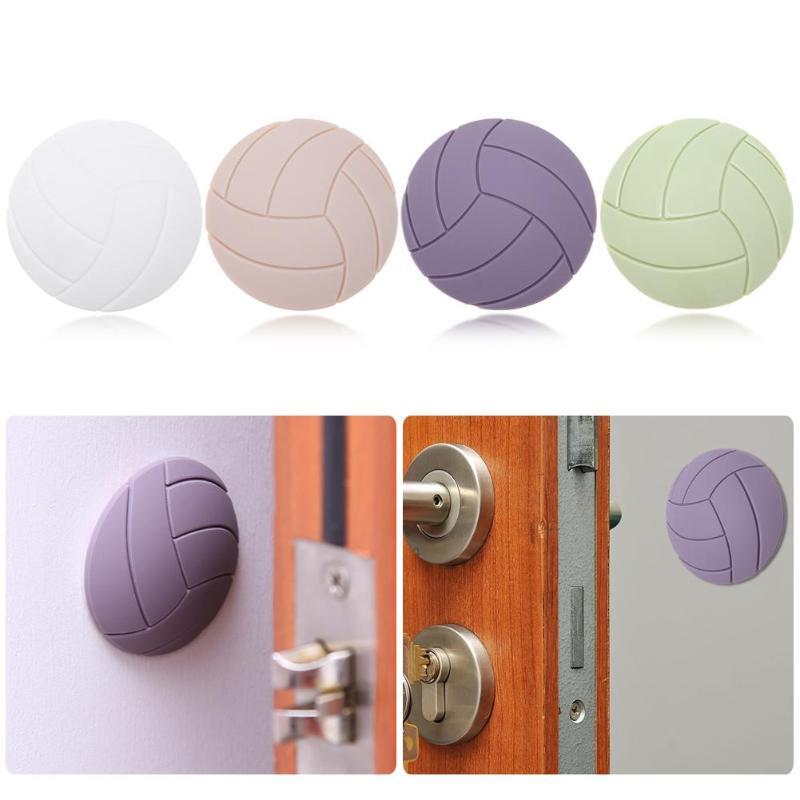 1PCS Self Bumper Sticker Silicone Anti-Skid Round Door Pad Handle Knob Adhesive 3D Crash Pad Wall Protector Handle 4 Colors