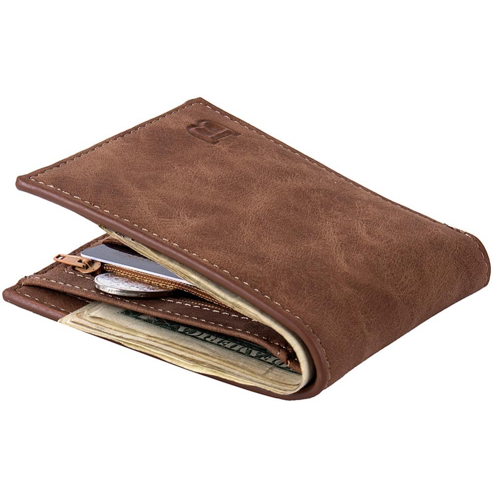 2019 Fashion Men Wallets Small Wallet Men Money Purse Coin Bag Zipper Short Male Wallet Card Holder Slim Purse Money Wallet W039