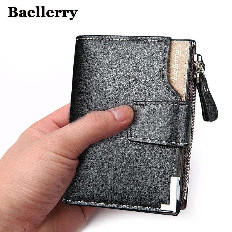 Baellerry brand Wallet men leather men wallets purse short male clutch leather wallet mens money bag quality guarantee