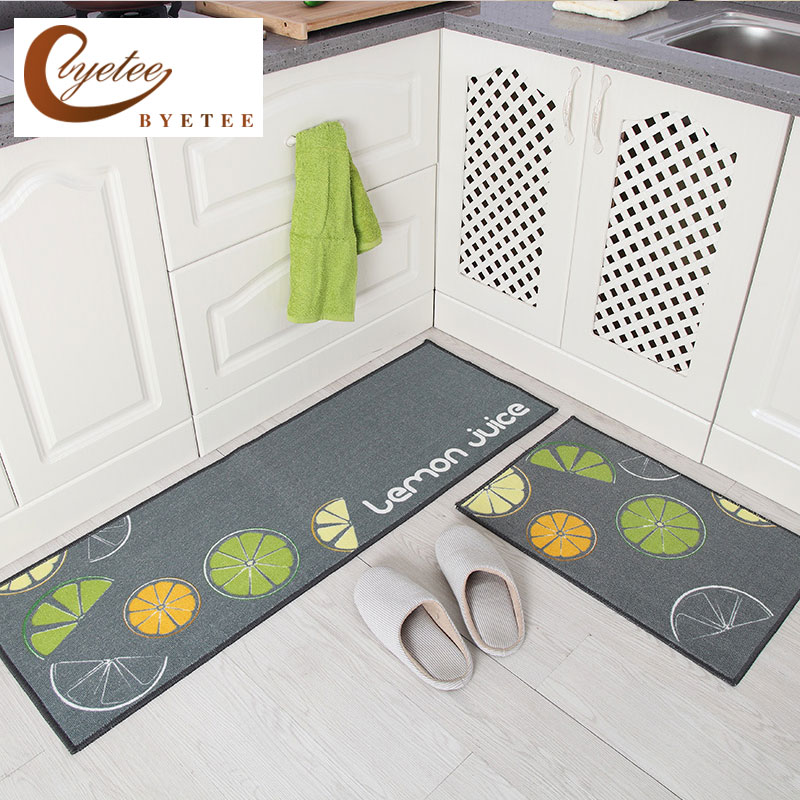 {Byetee} Kitchen Hot Selling Mats Door Bathroom Carpet Absorbent Slip-resistant Doormats Modern Kitchen Mat