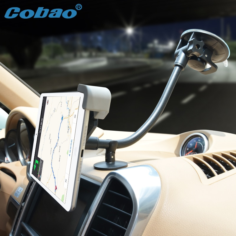 Cobao 7-11 inch long arm support tablet car navigation tablet PC holder accessories mount for car for Ipad mini pro Galaxy tab