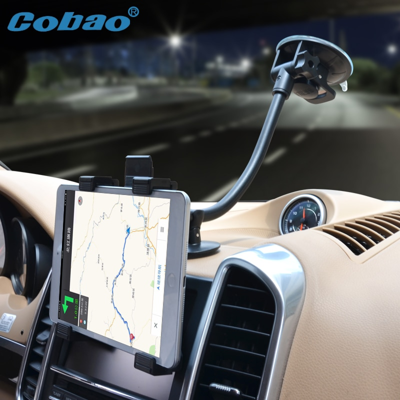 Cobao 7-11 inch long arm tablet stand navigation tablet holder accessories for car for Ipad stand Ipad mini pro Galaxy tab