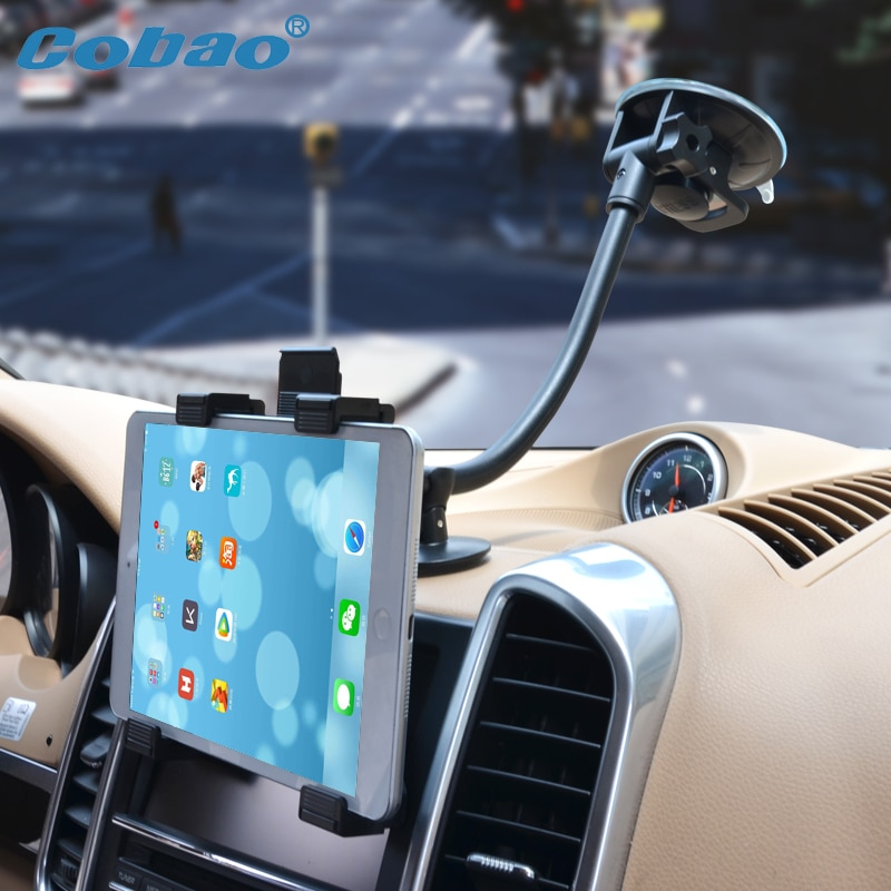 "Cobao 7 8 9 9.7 10 11 inch tablet pc stand long arm tablet car holder for Ipad 2 3 4 ipad air 9.7"" Ipad Pro samsung asus support"