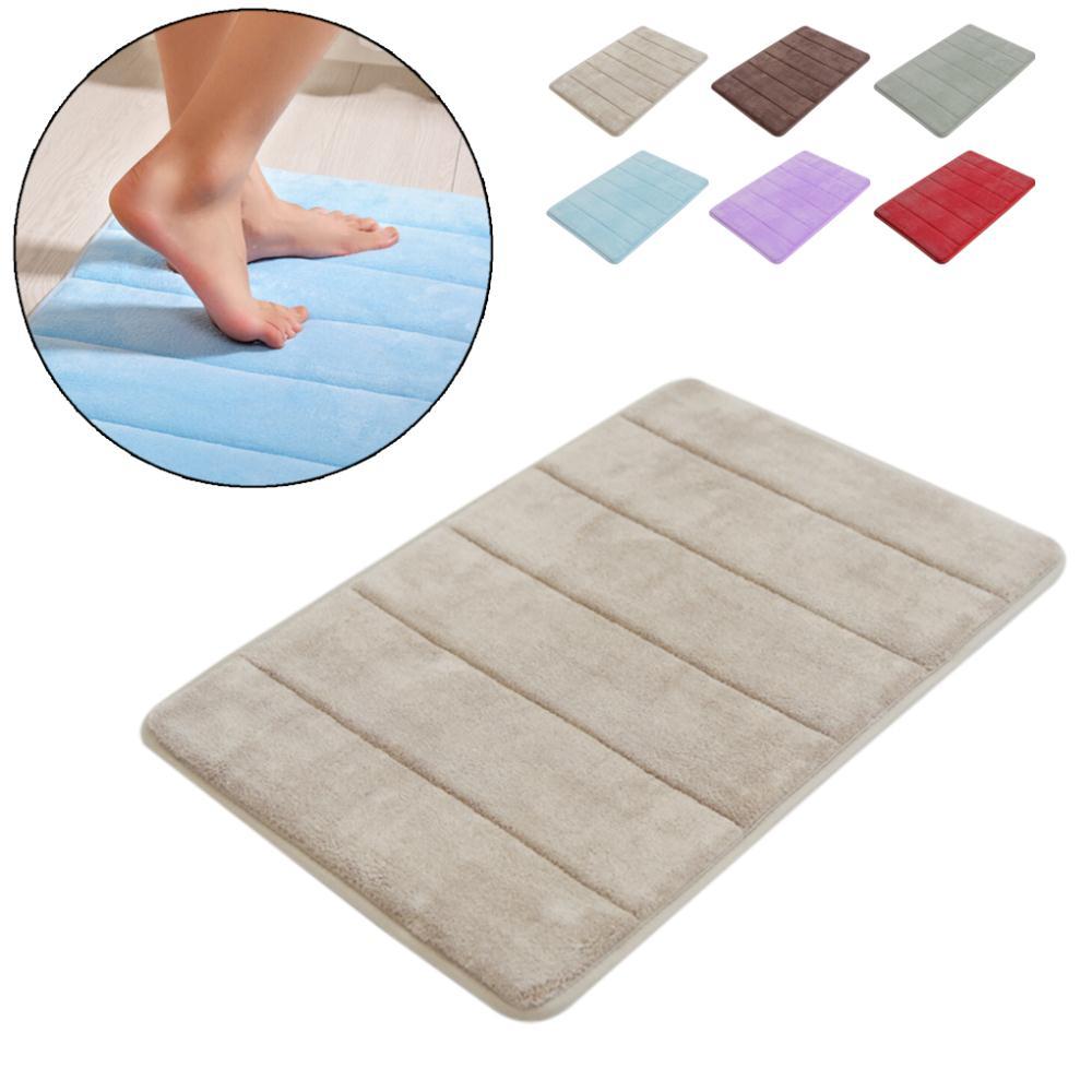 Coral Foam Non-Slip Back Rug Soft Bathroom Carpet Memory Foam Bath Mat