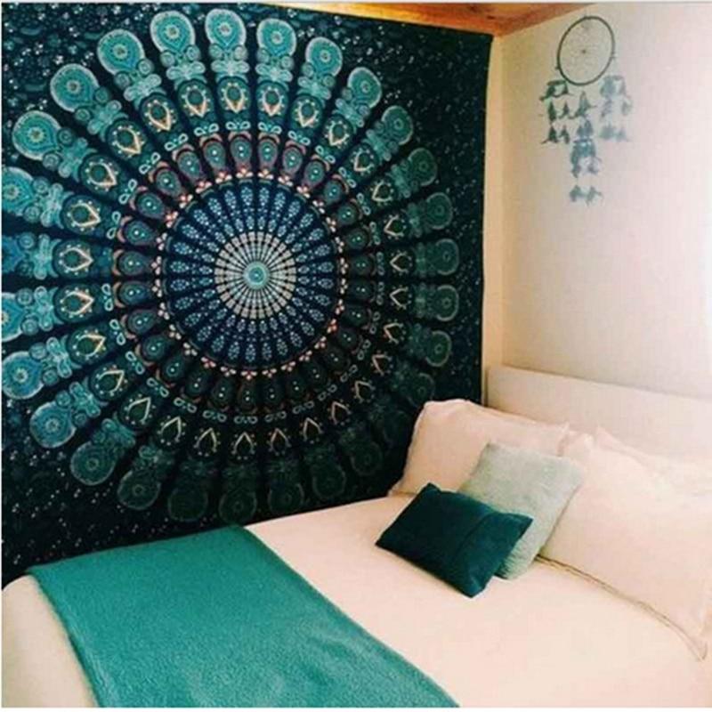 Indian Mandala Tapestry Wall Hanging Sandy Beach Throw Rug Blanket Camping Tent Travel Mattress Sleeping Pad Mandala Tapestry