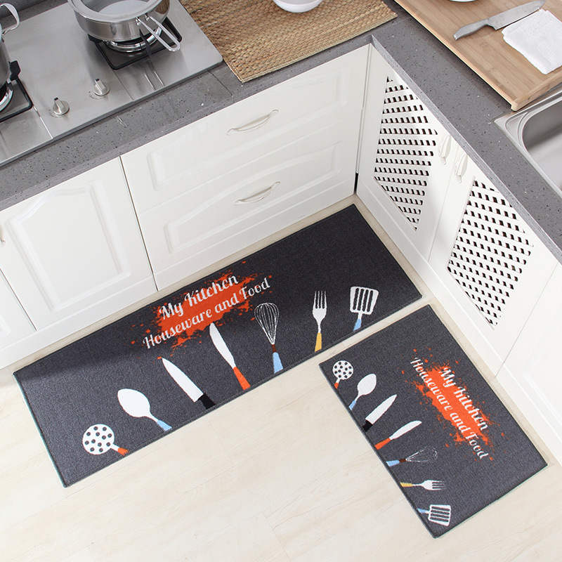 Long Kitchen Mat Bath Carpet Floor Mat Home Entrance Doormat Tapete Absorbent Bedroom Living Room Floor Mats Modern Kitchen Rug