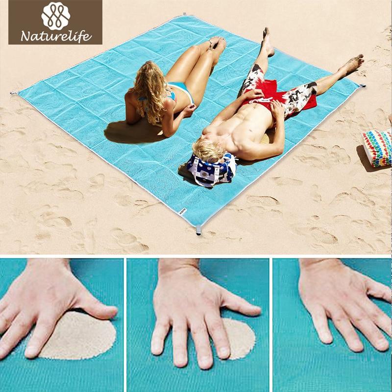 Naturelife Sand Free Beach Mat Portable Blue beach mat Anti-slip Sand Mats Rug Outdoor mat for Beach support drop shipping