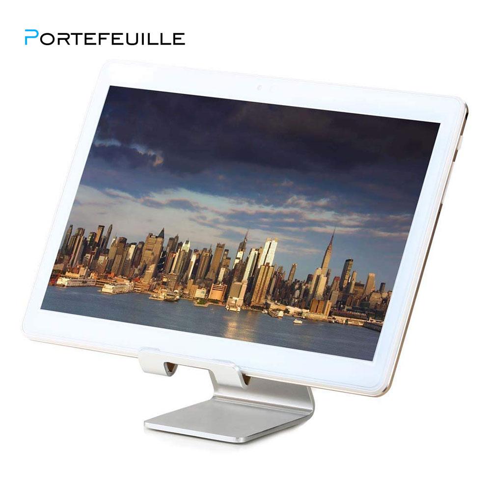 Portefeuille Aluminum Metal Phone Stand for Desk iPhone X 7 8 Plus 6S iPad Pro Xiaomi Mi Pad 4 Samsung Tablet Holder Accessories