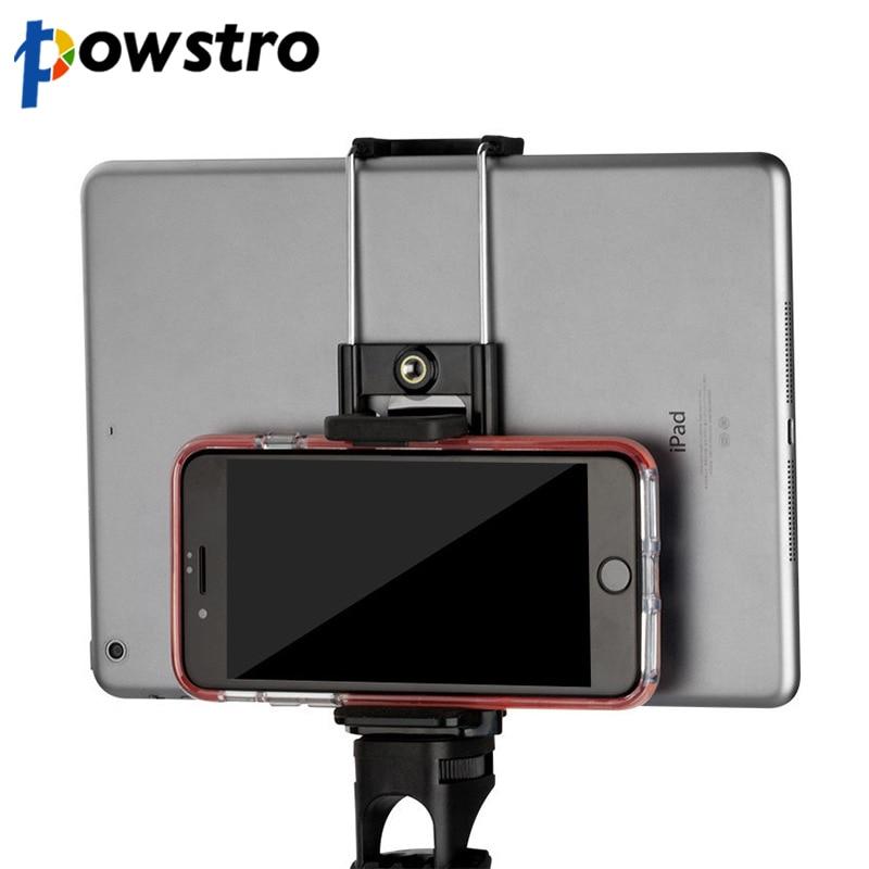 Powstro Cell Phone Tripod Adapter Holder Selfie Sticks Mount Bracket Smartphone Holder for Mobile Phones Tablet Accessories