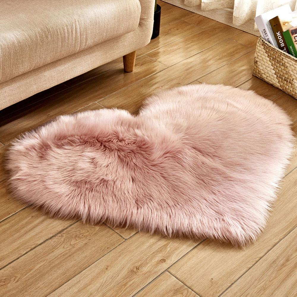 Wool Imitation Sheepskin Rugs Faux Fur Non Slip Bedroom Shaggy Carpet Living Room Mats tappeto cucina round rug alfombras
