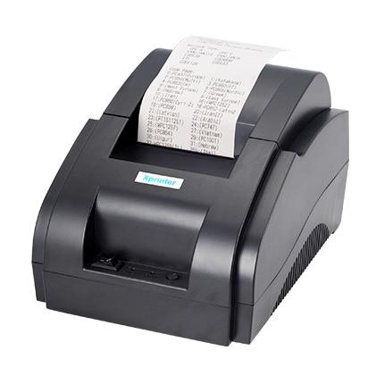 100%  original High Speed USB Port 58mm Thermal Receipt Pirnter POS printer Low Noise Mini Printer