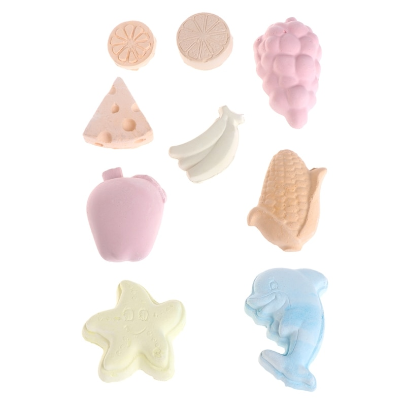 1PC Fruit Shaped Pet Hamster Chew Mineral Stone Dog Rabbit Totoro Guinea Pig Teeth Grinding Bite Stone Cage Accessories
