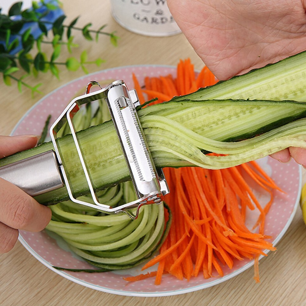 1PCS Multifunction Stainless Steel Julienne Peeler Vegetable Peeler Double Planing Grater Kitchen Accessories Cooking Tools