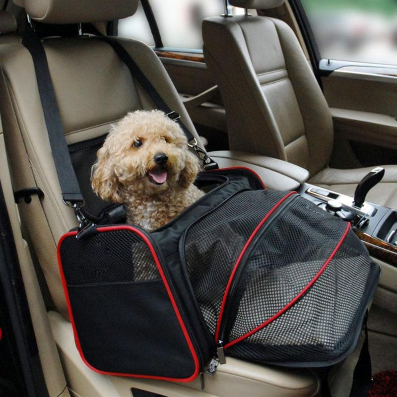 1pc Multi-functional Folding Pet Puppy Dog Carrier Dog Cat Car Seat Basket Mat Cage Safe Carry Seat Bag Pet Shoulder Bag Carrier