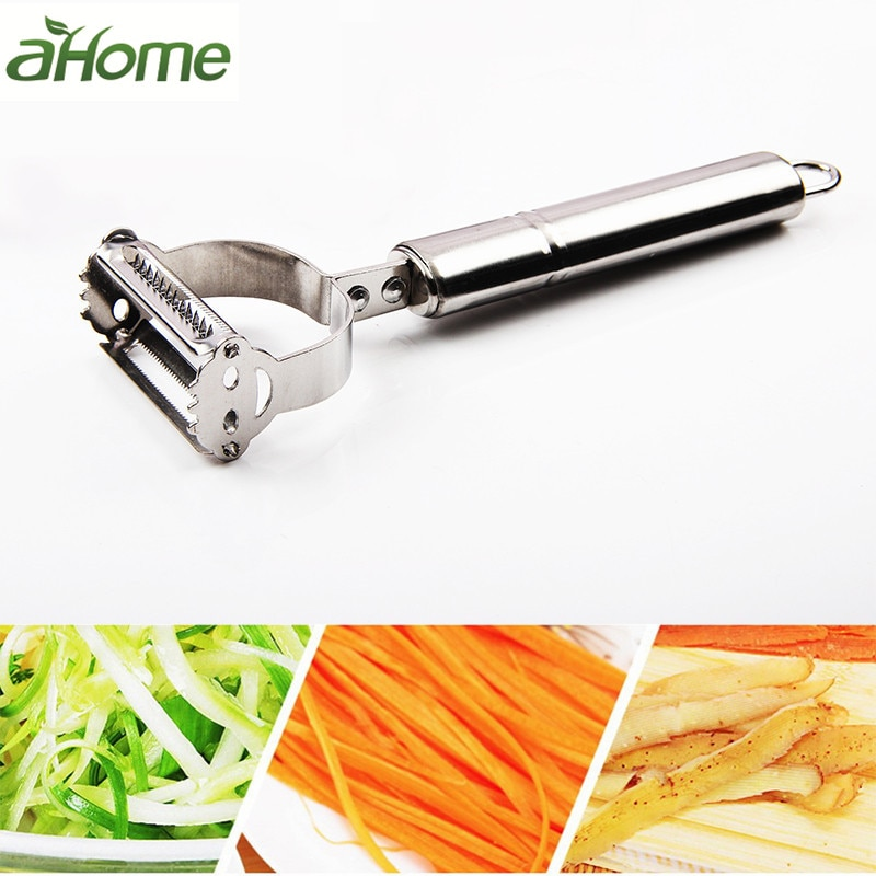 2 in1 Stainless Steel Potato Grater Julienne Peeler Kitchen Accessories Vegetables Peeler Double Planing Grater Kitchen Tools