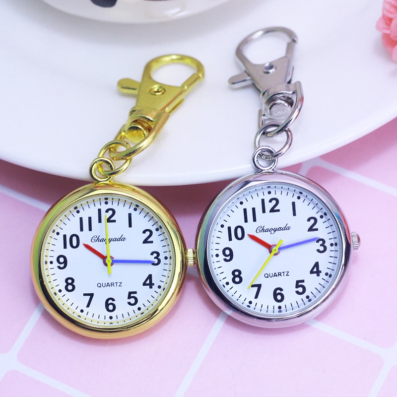 2018 CYD women men kids pocket watch students test quartz clock key chains nurse doctor medical pocket watch relogio feminino