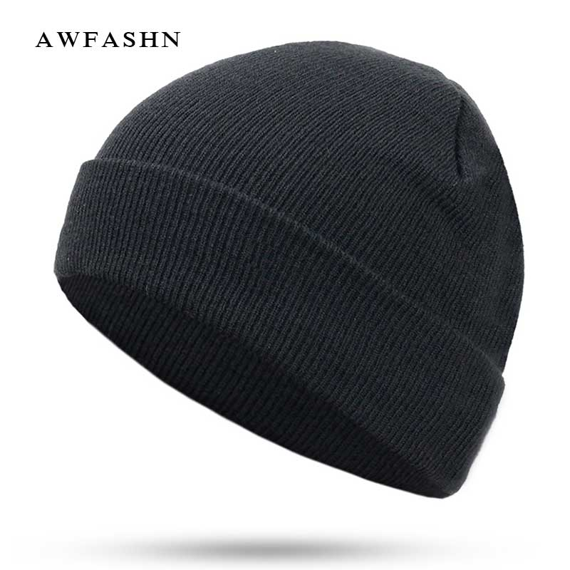 2018 New Fashion Solid Color Knit Beanies Hat Winter Hats Warm Man Woman Multiple Colour Skullies Ski Soft Cap Beanie Bone Sport