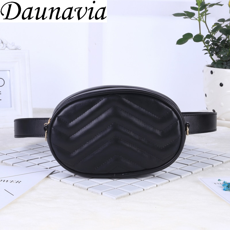 2019 New Bags for Women Pack Waist Bag Women Round Belt Bag Luxury Brand Leather Chest Handbag Beige New Fashion High Quality