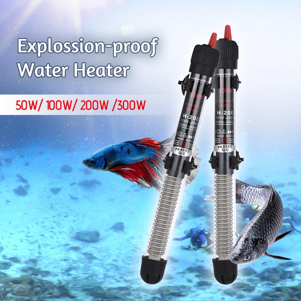 50/100/200/300W Aquarium Water Heater Heating Rod Temperature Control Products Temperature for Fish Tank Aquarium Accessories