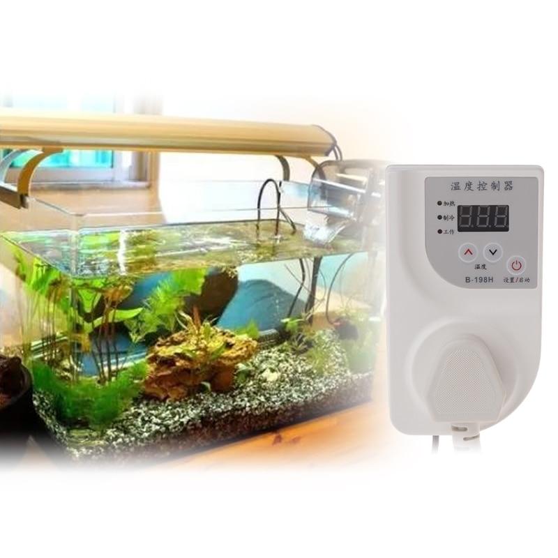 AC220V 50Hz 2000W LCD Digital Thermostat Fish Tank Reptile Incubator Temperature Controller Smart Products Fish Aquatic Pet