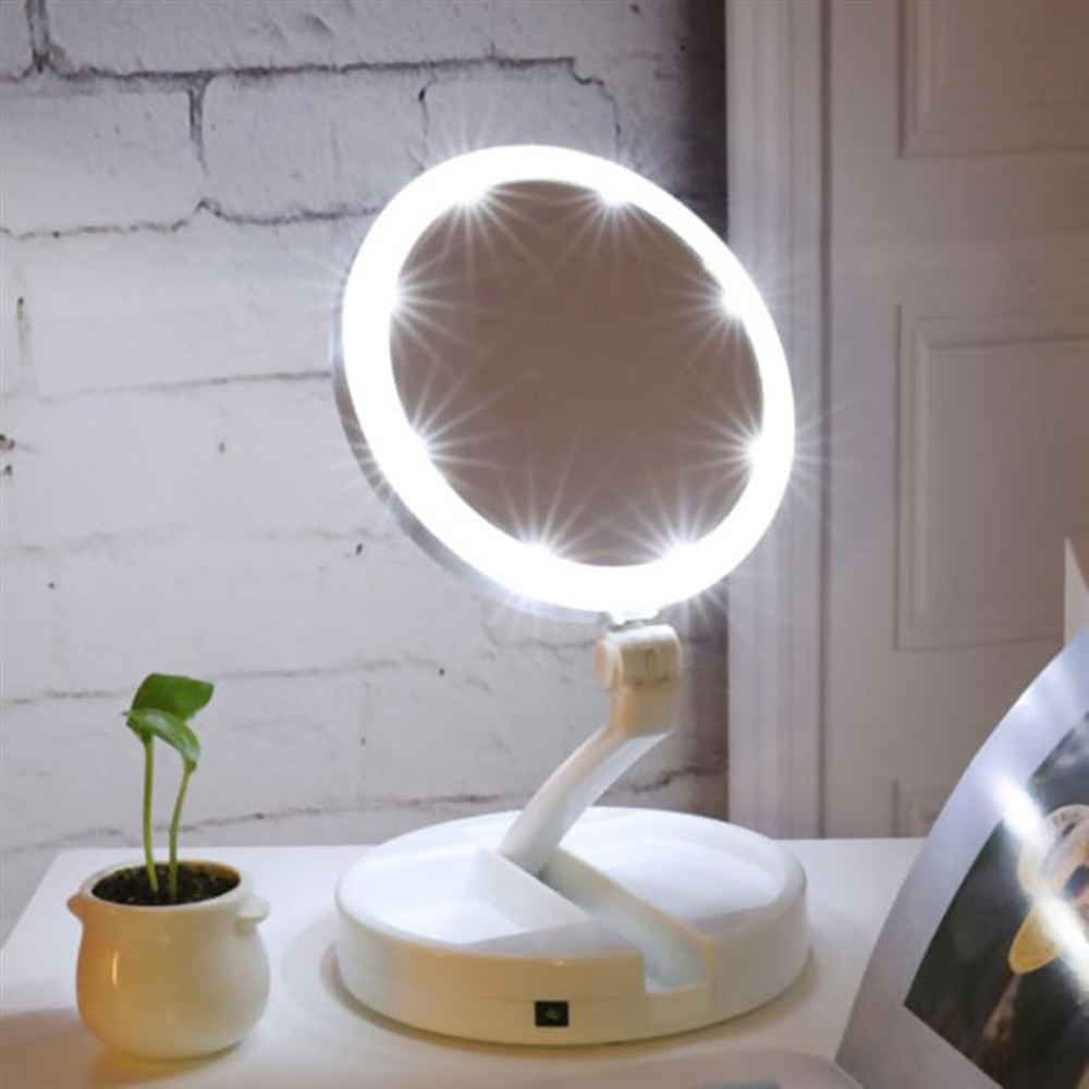 Abody Makeup LED Lighted Makeup Mirror Vanity Compact Make Up Pocket mirrors Vanity Cosmetic hand Mirror 10X Magnifying Glasses
