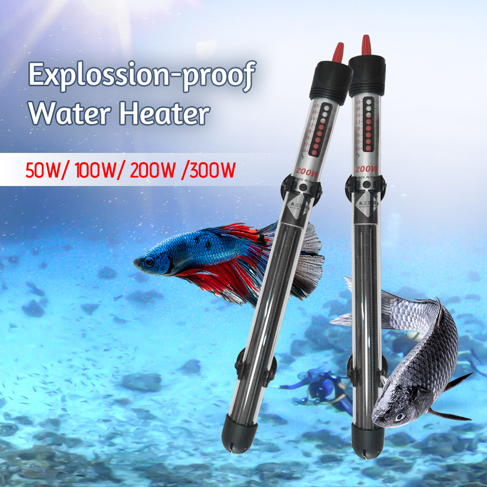 Aquarium Explosion-proof Water Heater Heating Rod Auto Fish Tank Aquarium Temperature Control Products Aquarium Accessories