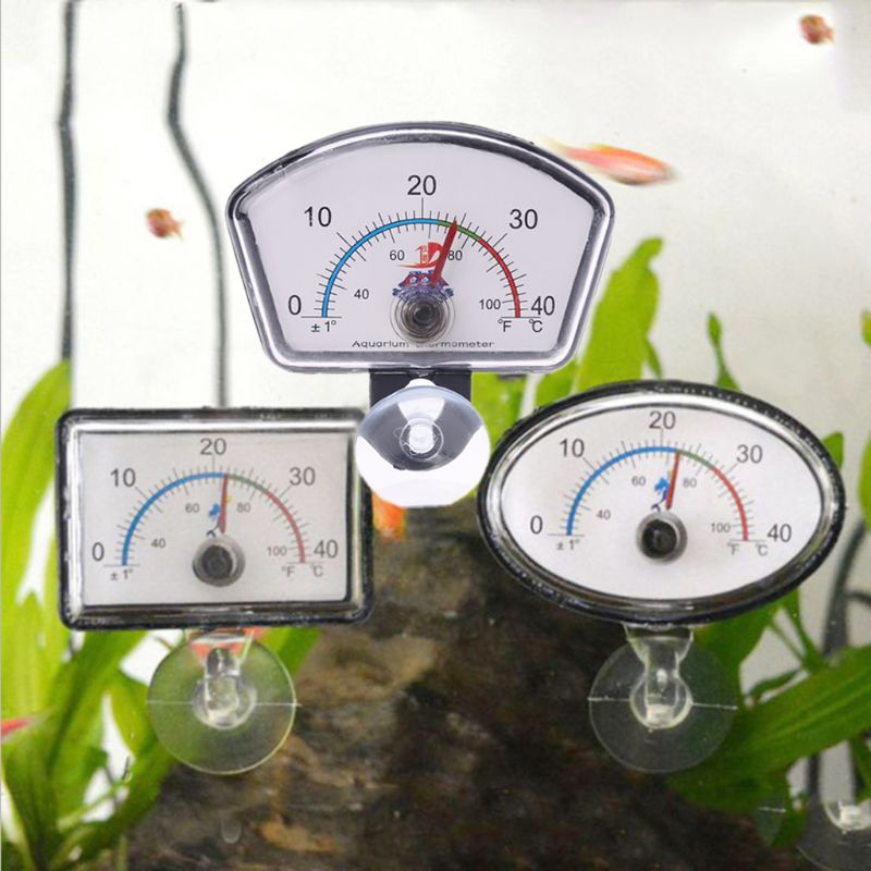Aquarium Thermometer Pointer Fish Tank Temperature Dial Submersible With Suction Cup fish tank temperature product 3 Types C42