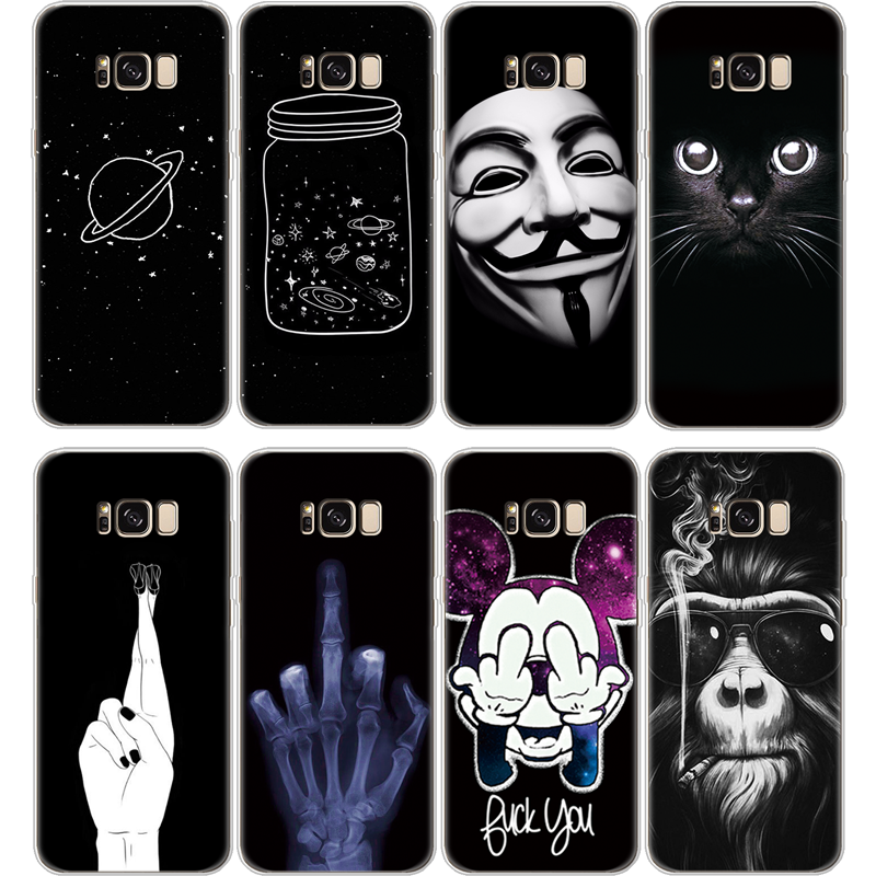 Black Silicon Cover For Samsung Galaxy J3 J5 J7 Prime A5 A7 2016 2017 J4 J6 A6 Plus A8 A7 2018 S8 S9 S10 Plus S10e Note 8 9 Case