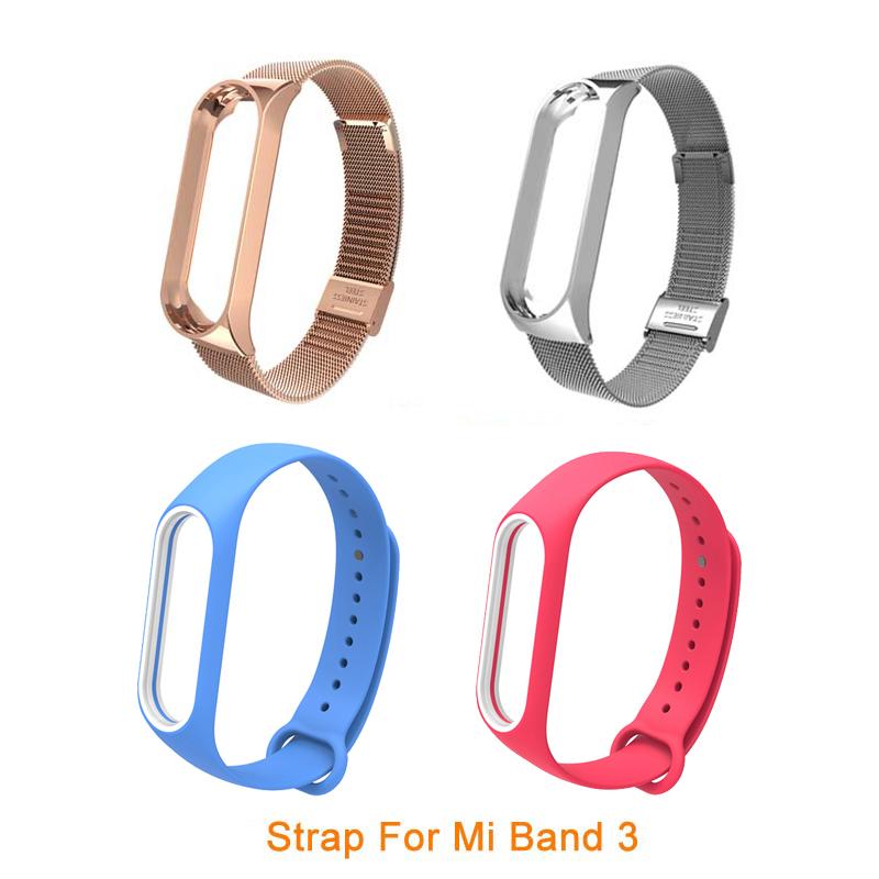 Bracelet for Xiaomi Mi Band 3 Strap watch metal/Silicone wrist strap For xiaomi mi band 3 accessories bracelet Miband 3 Strap