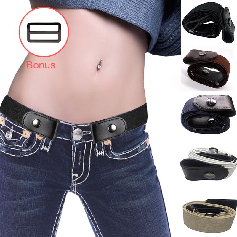 Buckle-Free Elastic Belt for Jean Pants Dresses No Buckle  Stretch Waist Belts fit Women Men Boys Girls Drop Shipping