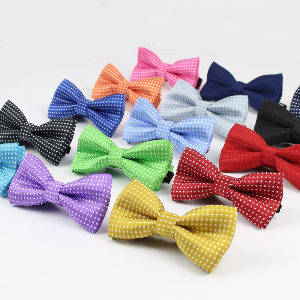 Children Fashion Formal Cotton Bow Tie Kid Classical Dot Bowties Colorful Butterfly Wedding Party Pet Bowtie Tuxedo Ties