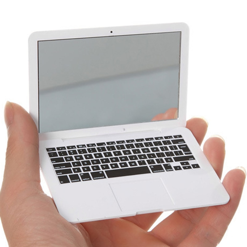 Cute MAKEUP Mini Pocket Laptop Style Clear Glass Women Cosmetic Beauty Mirror Fashion Notebook Form Makeup Mirror Book