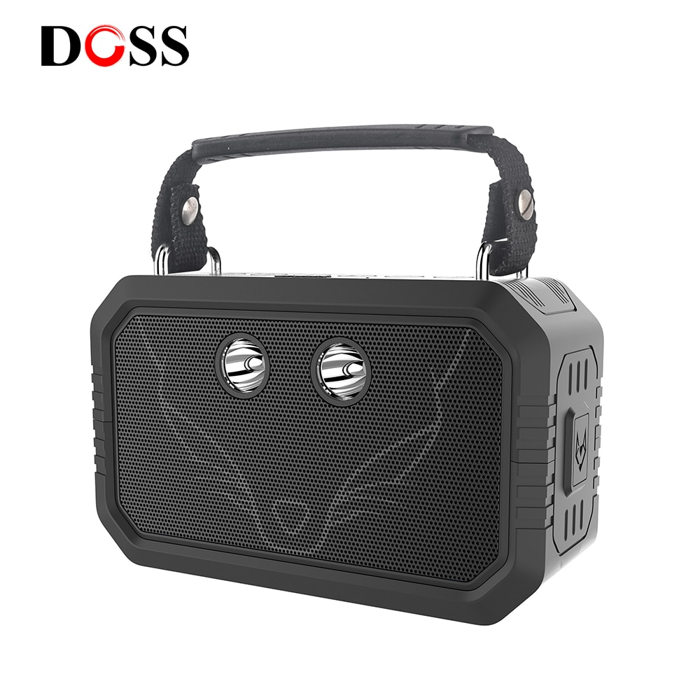 DOSS Traveller Outdoor Bluetooth V4.0 Speaker Waterproof IPX6 Portable Wireless Speakers 20W Stereo Bass shower speaker