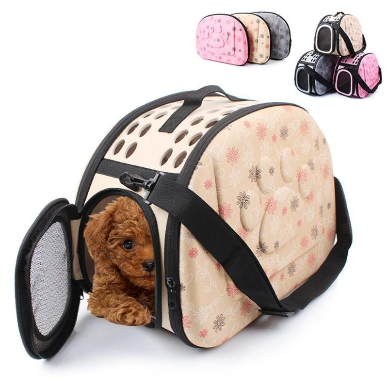 Foldable EVA Travel Pet Dog Carrier Puppy Cat Carrying Outdoor Bags for Small Dogs Shoulder Bag Soft Pets Dog Kennel Pet Product