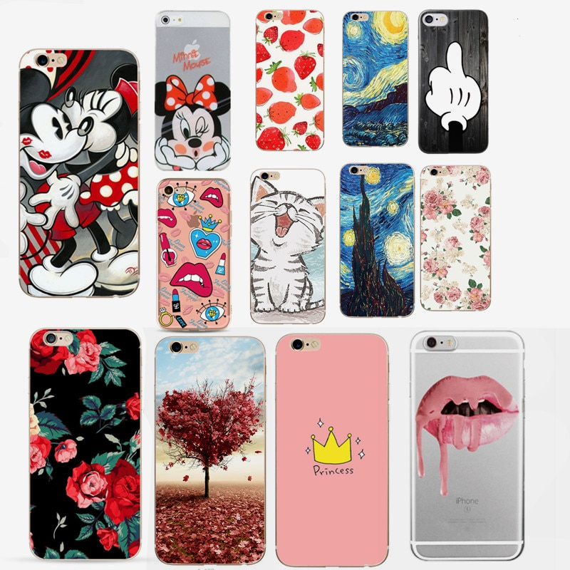 For Fundas iPhone 7 Case Cover Apple iPhone X 5 5S SE 6 6S 7 8 Plus Cute Silicone Phone Back Case For iphone 6s capas