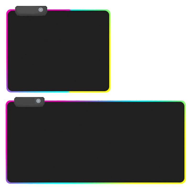 Gaming Mouse Pad RGB Oversized Glowing LED Extended Illuminated Keyboard Thicken Colorful For PC Computer Laptop