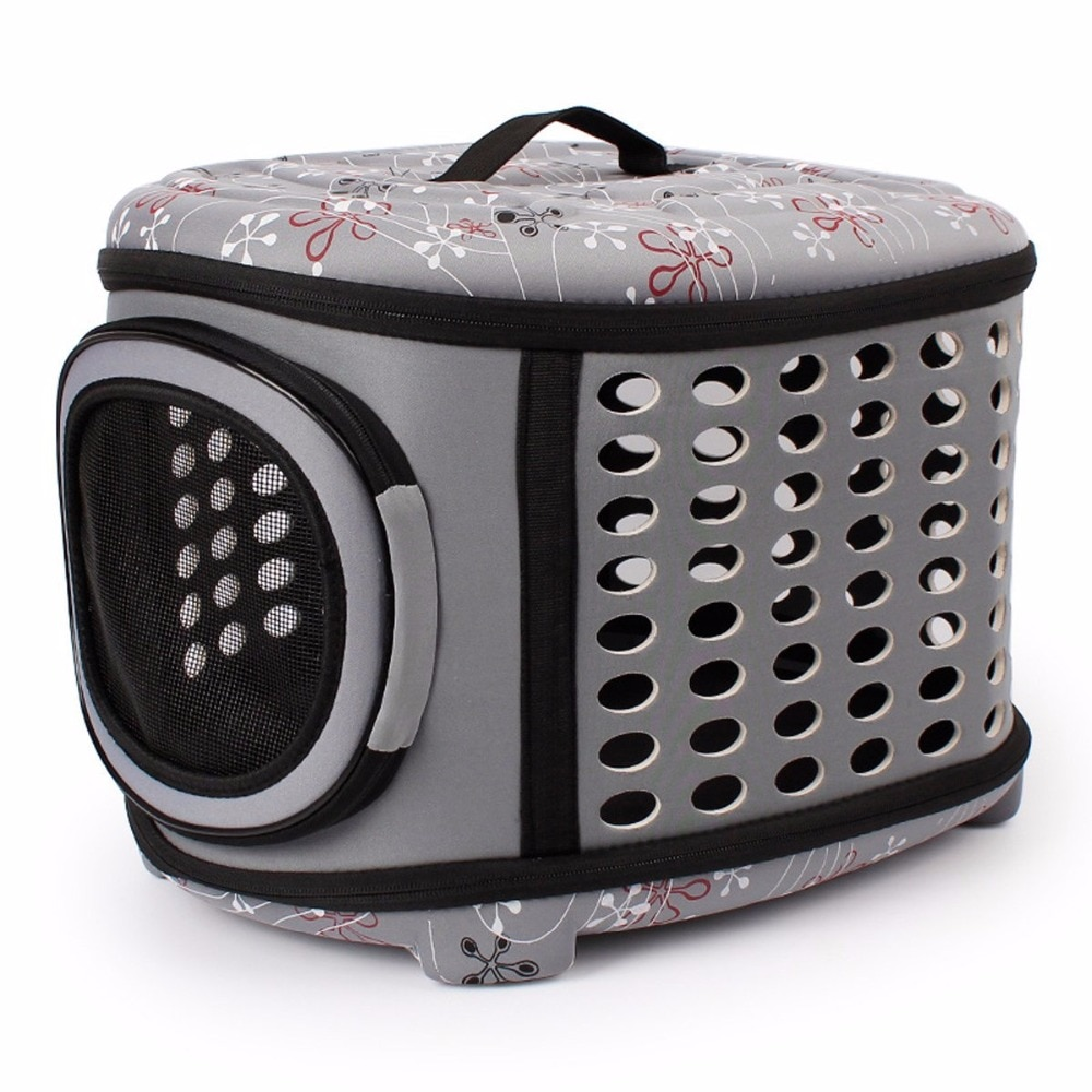 Gomaomi Collapsible Dog Bag Pet Carrier House with Hard Cover Expandable Pet Travel Kennel for Most Cats, Small Dogs