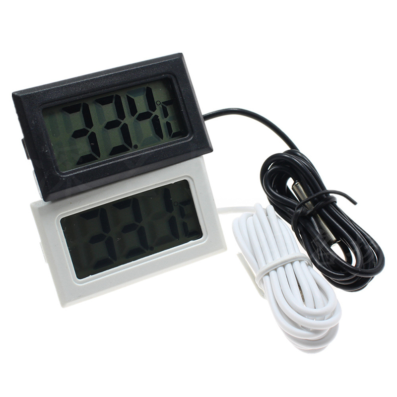 LCD Aquarium Thermometer Digital Outdoor Waterproof  Electronic Temperature Measure Tool With Probe Aquatic Product for Pet Fish