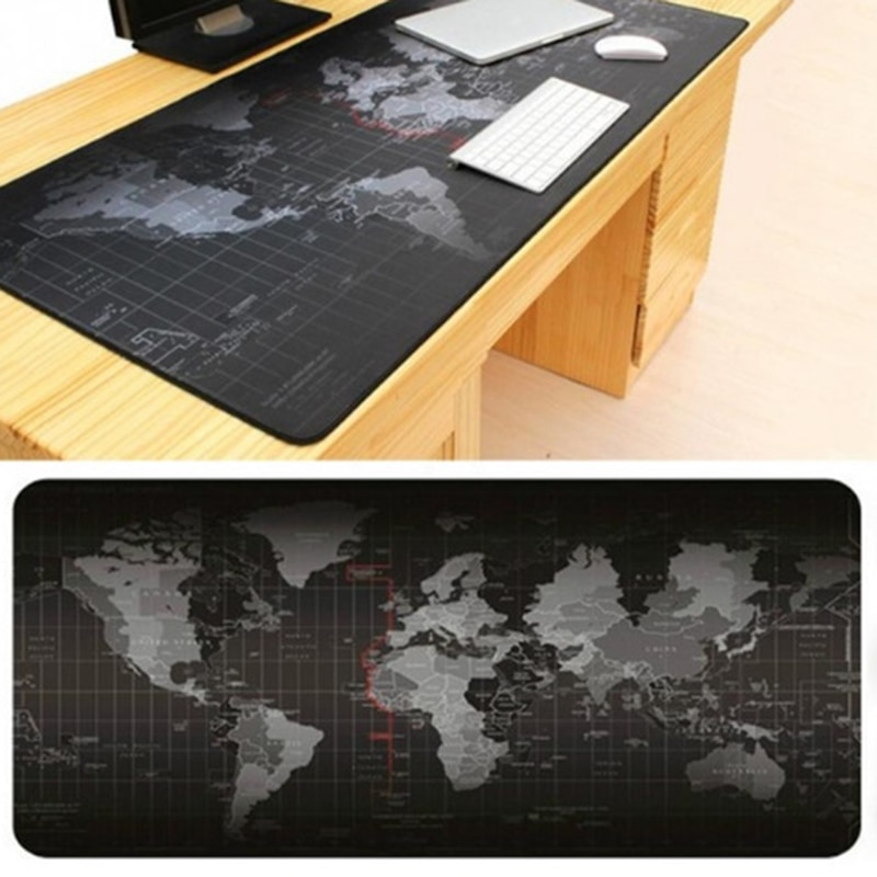 Large Old World Map Game Mouse Pad Mat Laptop Gaming Mousepad Rubber Mouse Pads Gamer Fashion Office Desk Pad