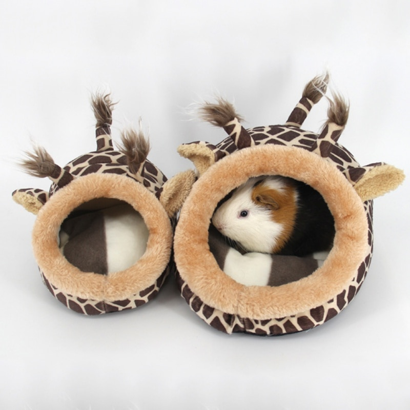 Lovely Chinchillas Squirrel Dog Cat Bed Mini Animals Nest Hamster House Cage Accessories Guinea Pigs Hamster Bed