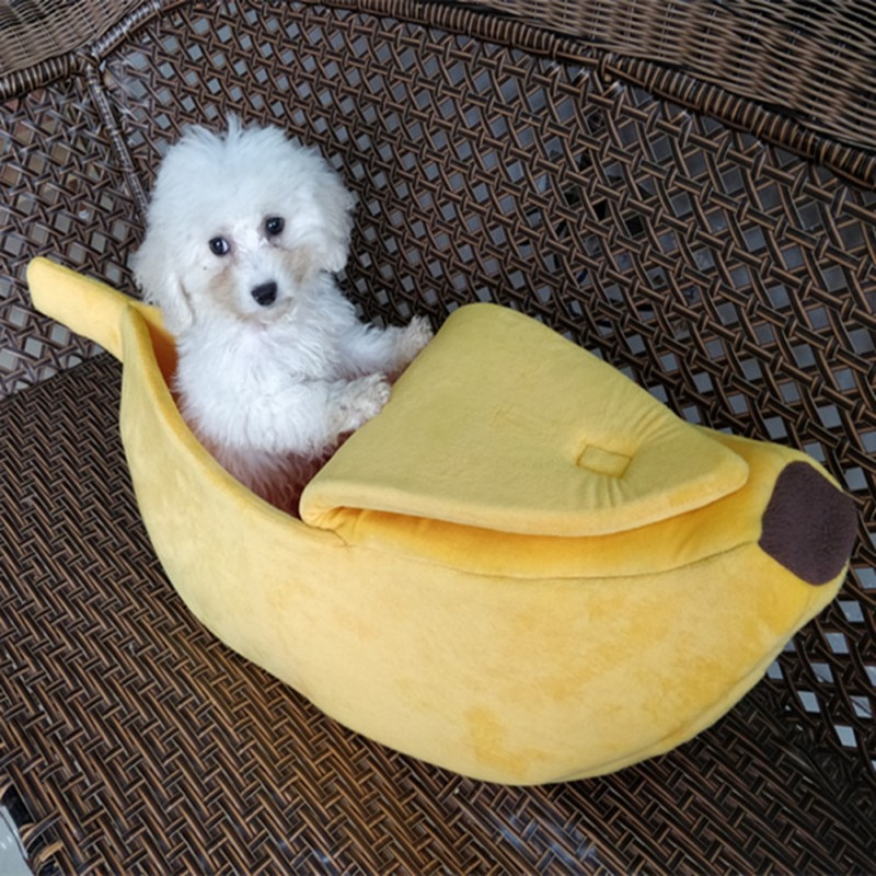 Lovely Creative Banana Shaped Dog/Cat House Soft Warm Kennel  Sleeping Bed  House Tent Pet Supply Dogs/Cats Accessories