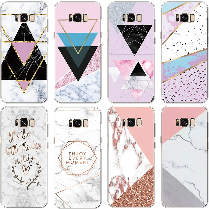 Marble Geometric Case For Samsung Galaxy Note 8 9 J2 J3 J5 J7 Prime S6 S7 Edge S8 S9 Plus A3 A5 2016 2017 A6 A8 2018 TPU Cover