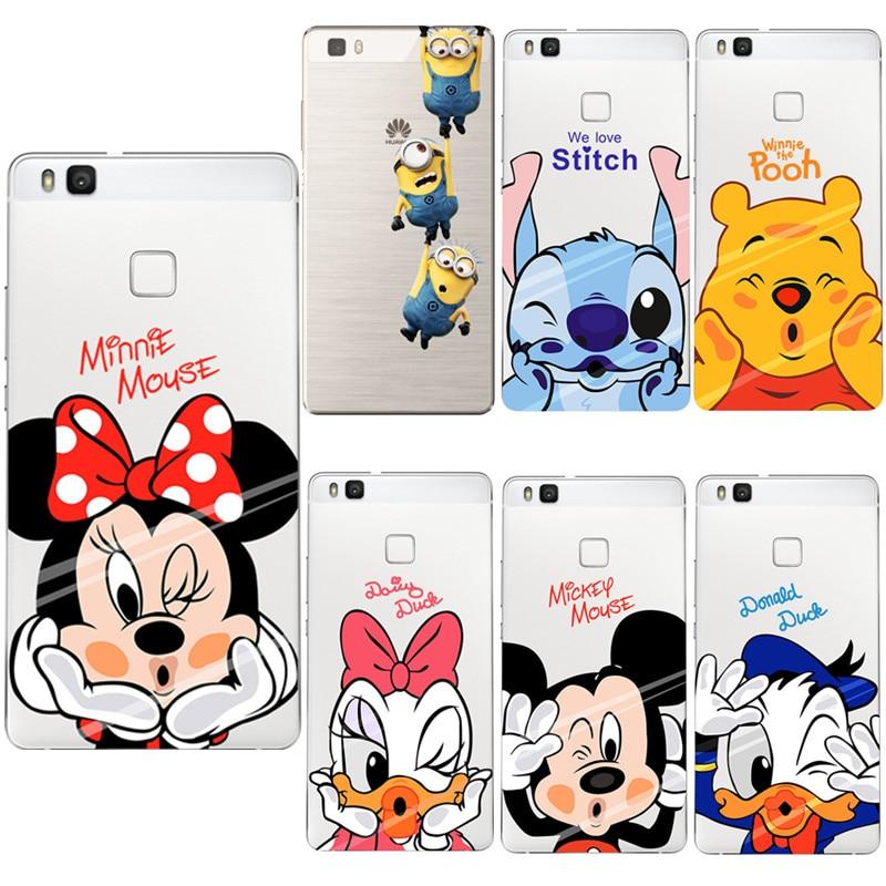 Mickey Minnie Case TPU For Huawei Mate 20 10 P8 P9 P10 P20 Lite Pro 2017 mini P smart + Nexus 6P FOR Huawei Nova 3 Case Coque