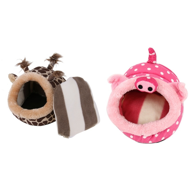 New Hamster House Cage Squirrel Small Cat Dog Bed Chinchillas Nest Accessories Mini Animals Guinea Pigs Hamster Bed Newest