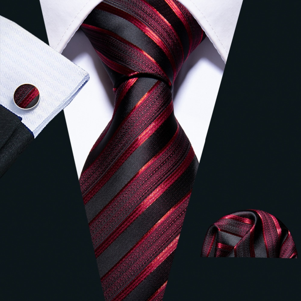 New Wedding Men Tie Red Striped Fashion Designer Ties For Men Business 8.5cm Dropshiiping Barry.Wang Groom Tie Kravat FA-5022