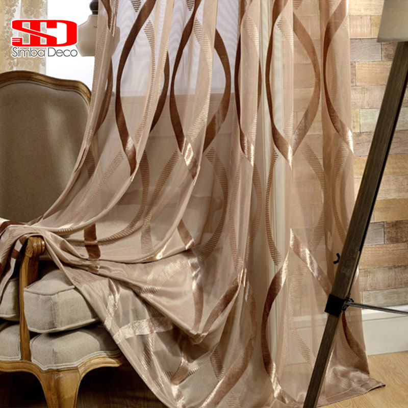 New White Shiny Tulle Curtains Wavy Stripes Translucent Decoration Balcony Simple Modern Style Solid Sheer Window Treatments