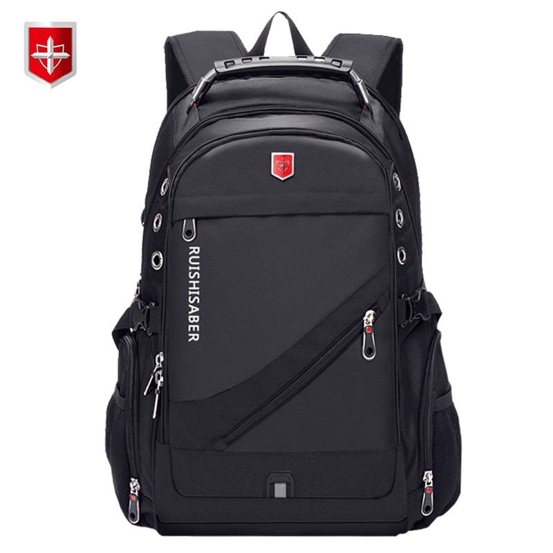 Oxford Swiss 17 Inch Laptop Backpack Men USB Charging Waterproof Travel Backpack Women Rucksack Male Vintage School Bag mochila