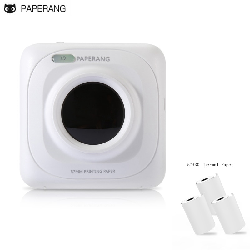 PAPERANG Portable Bluetooth 4.0 Photo Phone Wireless Connection Mini Printer 1000mAh Lithium-ion Batter plus 3roll Thermal Paper