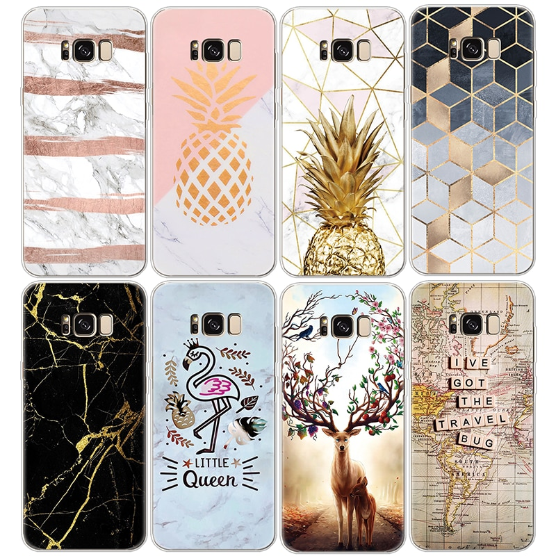 Pineapple Cover For Samsung Galaxy A30 A50 J2 J7 Prime S6 S7 Edge S8 S9 Plus A3 A5 A6 A8 Note 8 9 2016 2017 2018 Marble TPU Case