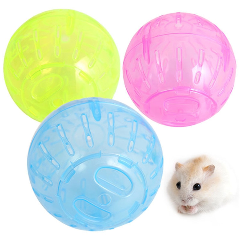 Plastic Pet Rodent Mice Jogging Ball Toy Hamster Gerbil Rat Exercise Balls Play Toys Plastic Toy Cage Accessories K5